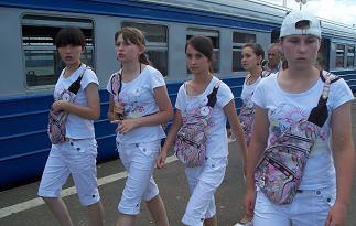 Команда КССК на едет на экскурсию в Сергиев-Посад. Июль 2008.