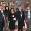 """Председатель КССК и председатель \""""Русского Клуба в Сингапуре\"""" (крайние справа) с соотечественниками из Монголии на выставке живописных работ. Сентябрь 2008"""