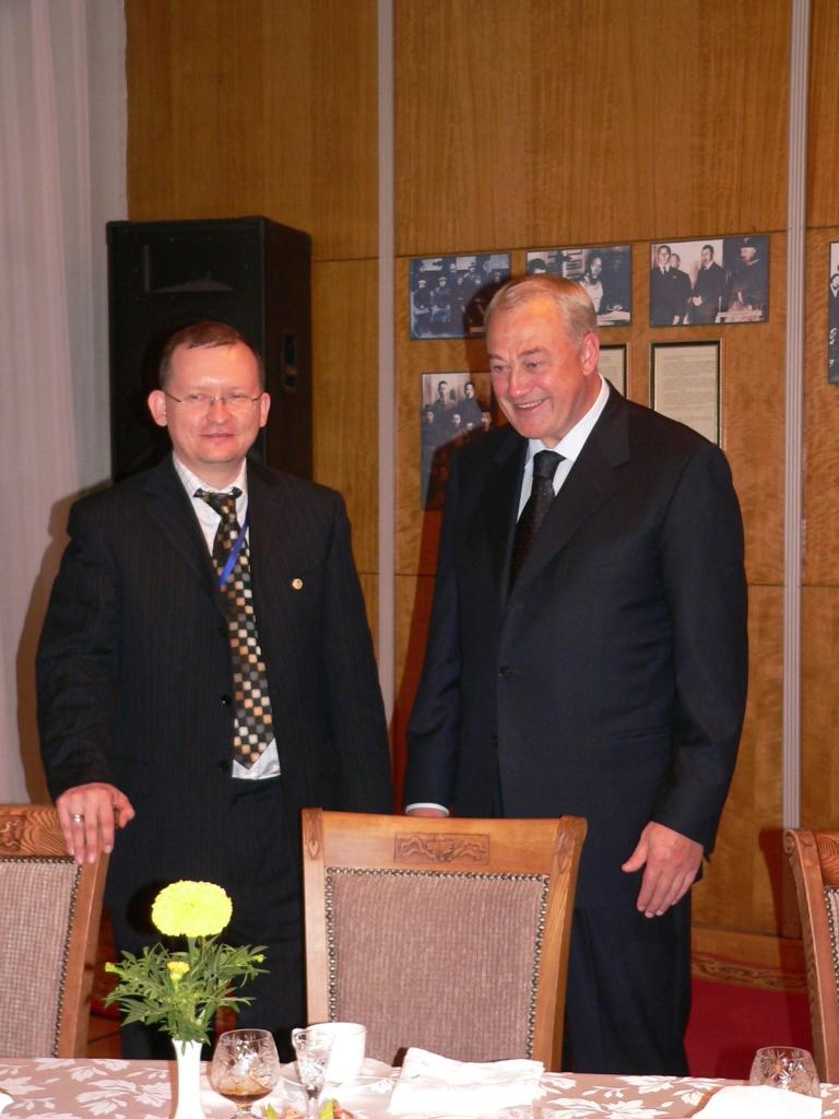 Председатель КССК М. Дроздов и Посол России в Монголии Б. Говорин. Улан-Батор. Сентябрь 2008