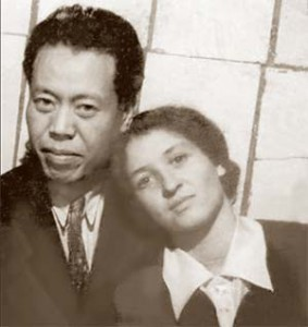 Е.П.Кишкина с мужем Ли Лисанем